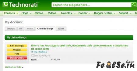 Добавляюсь в technorati.com